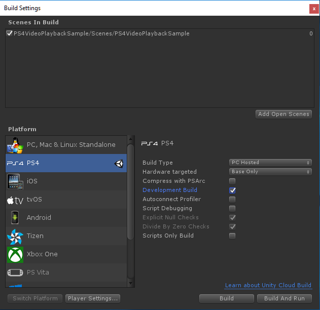 How to Compile and Build with Unity for PS4 FPKG by RetroGamer74.PNG