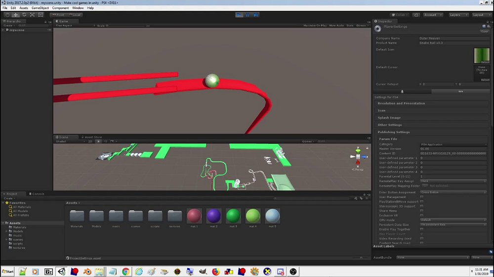 Snake Ball PS4 Homebrew PKG, Play Demo in Editor by SnakePlissken.jpg