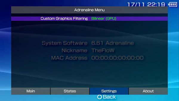 Adrenaline 6 61 PSPemu CFW for TaiHEN on PS Vita by TheFloW