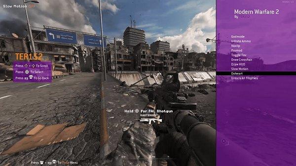 CoD Modern Warfare 2 Remastered PS4 Mod Menu by TER152.jpg