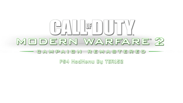 CoD Modern Warfare 2 Remastered PS4 Mod Menu by TER152.png