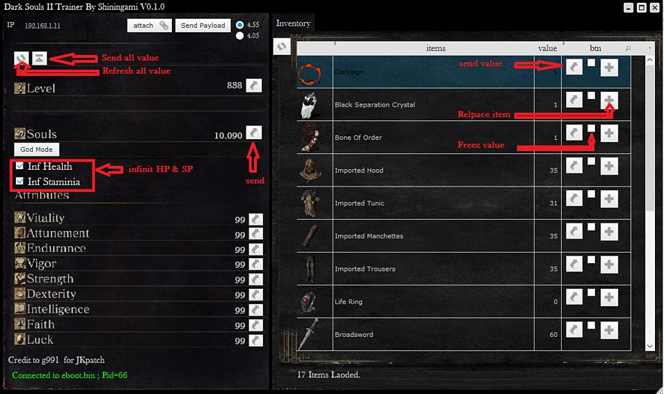 Dark Souls 2 Trainer for PS4 4.55 Firmware by Shiningami 4.jpg