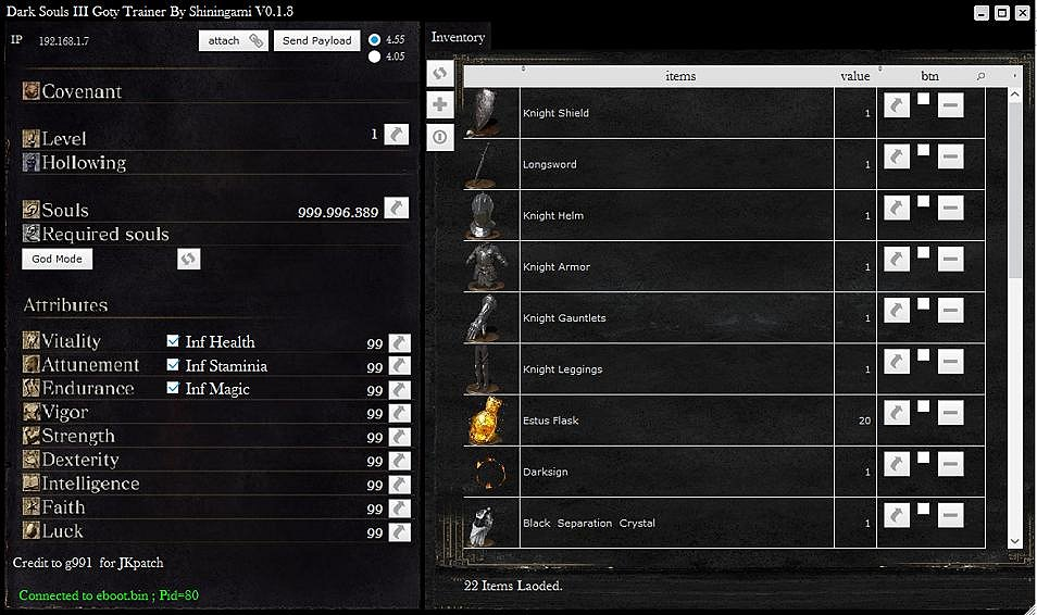 Dark Souls 3 Trainer for PS4 4.55 Firmware by Shiningami 2.jpg