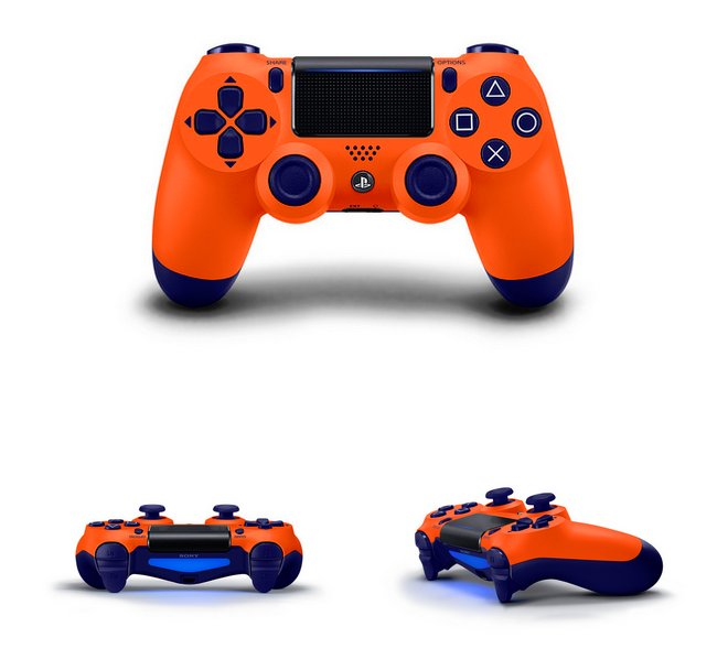DualShock 4 Berry Blue, Sunset Orange, Blue Camo & Copper Incoming 2.jpg