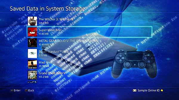 Free PS4 SaveData Decrypting Tools in Development by Charlyzard