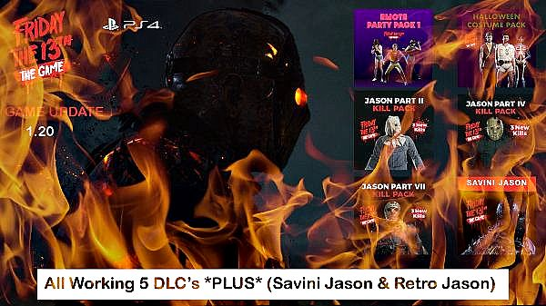 Friday the 13th The Game PS4 DLC PKG's - Savini Jason Back From the Dead!.jpg