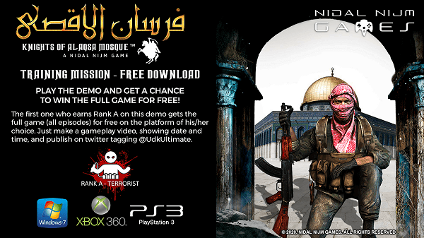 Fursan al-Aqsa Knights of al-Aqsa Mosque PS3 PKG by Nidal Nijm Games.png
