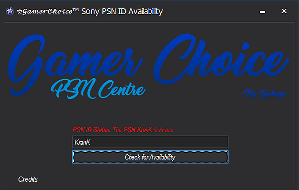 Gamer Choice Sony PSN ID Availability Tool by Luckeyy.png