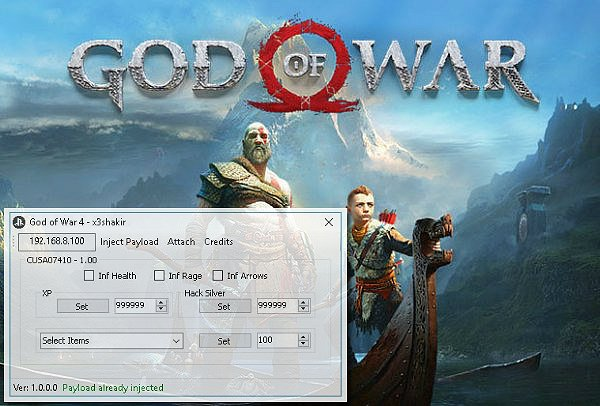 God of War 4 Tool v1 0 0 0 for PlayStation 4 by X3shakir