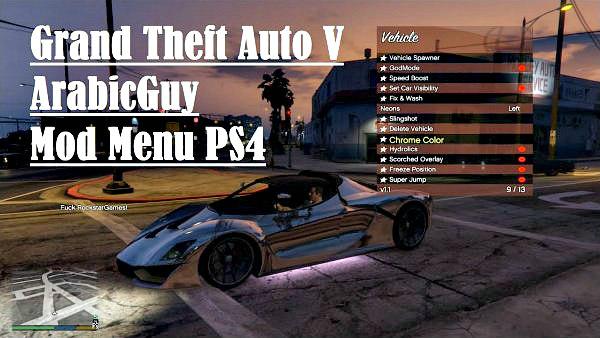 Grand Theft Auto V (GTA V) ArabicGuy Mod Menu for PS4 2020 Demo.jpg