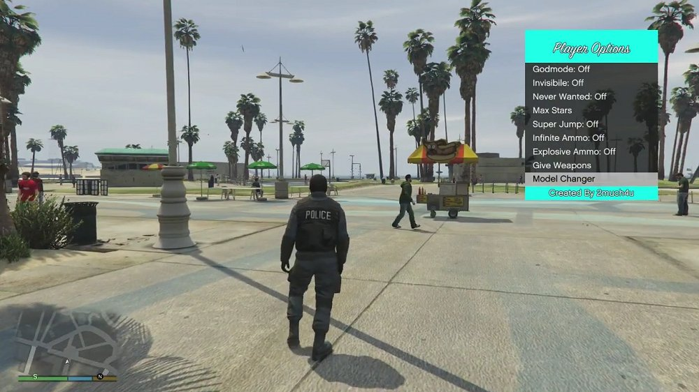 Grand Theft Auto V (GTAV) PS4 Mod Menu 1.76 Offline by 2much4u 2.jpg