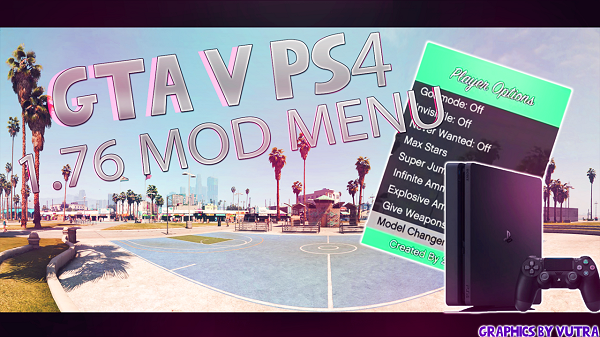 Grand Theft Auto V (GTAV) PS4 Mod Menu 1.76 Offline by 2much4u.png