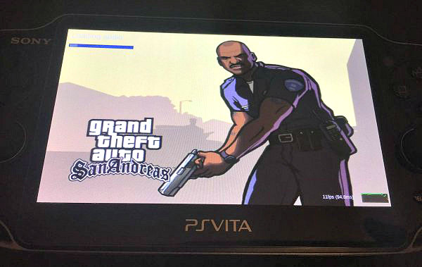 GTA: San Andreas Unity Port to PS Vita Test VPK Arrives