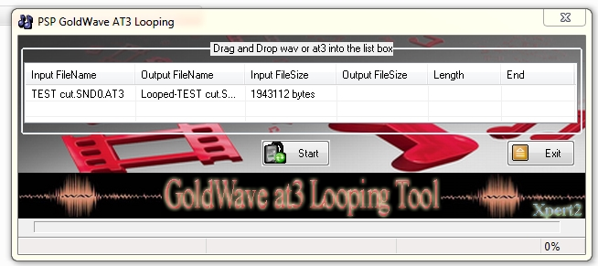 goldwave at3 looping tool