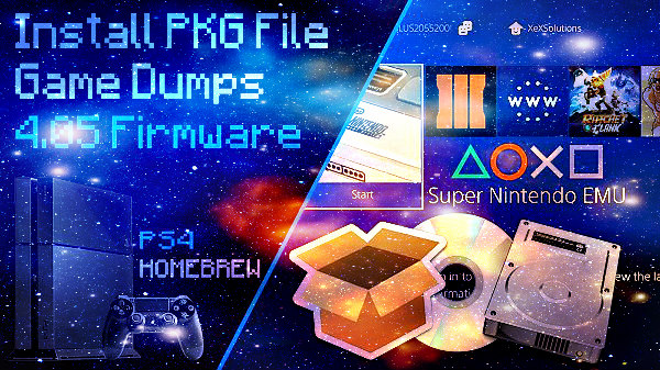 How to Install PKG File Games on PS4 4 05 Firmware by