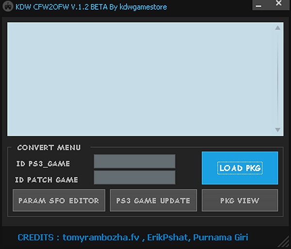 KDW CFW2OFW V.1.2 BETA GUI for PS3 by KDWGameStore.png