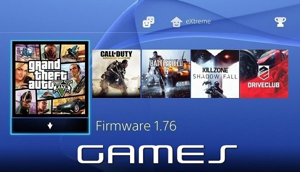 Listing of PlayStation 4 Games for PS4 Firmware 1.76 by eXtreme.jpg