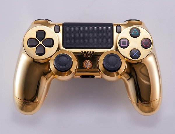 Lux DualShock 4 (DS4) Controller for PS4 in 24K Gold and Diamonds 2.jpg
