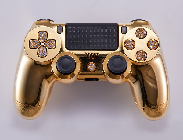 Lux DualShock 4 (DS4) Controller for PS4 in 24K Gold and Diamonds 3.jpg