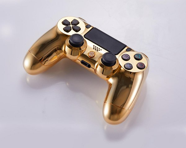 Lux DualShock 4 (DS4) Controller for PS4 in 24K Gold and Diamonds 4.jpg