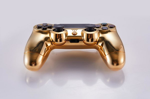 Lux DualShock 4 (DS4) Controller for PS4 in 24K Gold and Diamonds 5.jpg