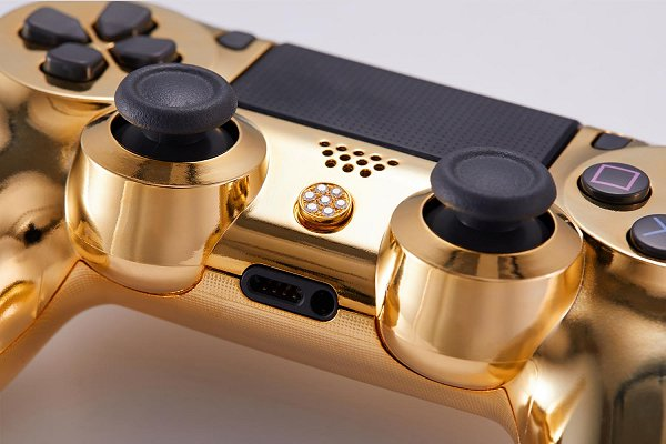 Lux DualShock 4 (DS4) Controller for PS4 in 24K Gold and Diamonds.jpg