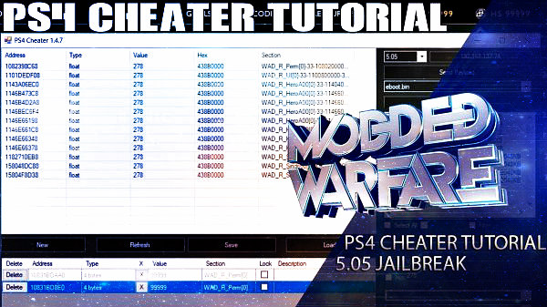 Making PlayStation 4 Mods with PS4 Cheater Guide by MODDEDWARFARE.jpg