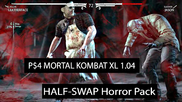 MK XL Half-Swap Horror Mod Pack for Mortal Kombat XL PS4 by GrimDoe.jpg