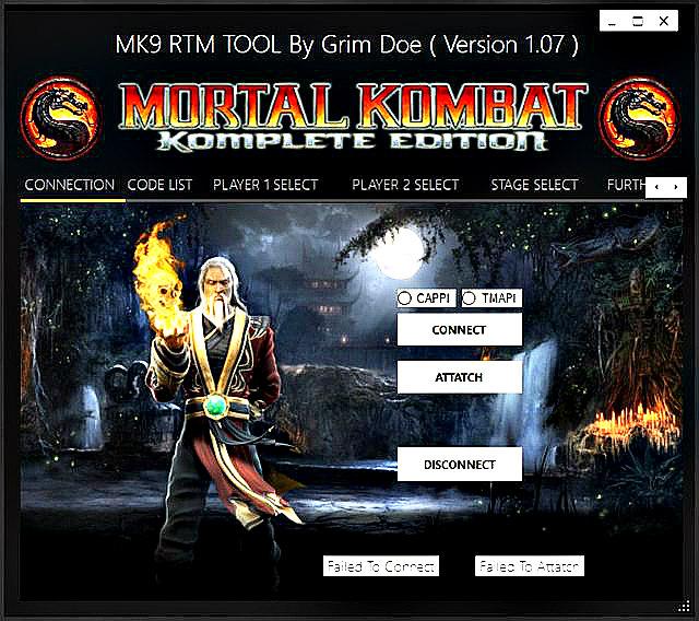 Mortal Kombat 9 (MK9) KE PS3 Real Time Modding (RTM) Tool by GrimDoe