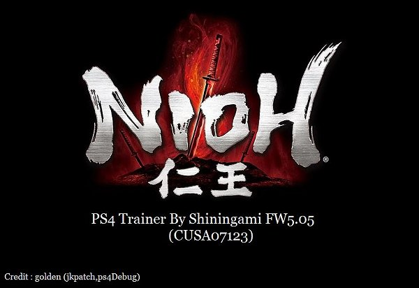 NIOH Trainer for PS4 5.05 Firmware by ShininGami.jpg