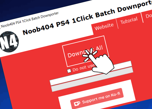 Noob404 1Click PS4 Batch Downporter to Downport Multiple PKGs.png