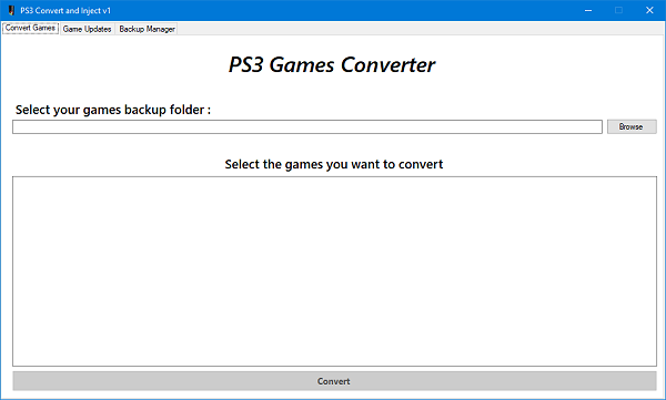 PS3 Convert & Inject v1 for PlayStation 3 Game Injecting by SvenGDK