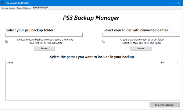 PS3 Convert & Inject v1 for PlayStation 3 Game Injecting by