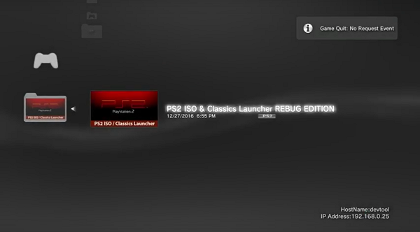 PS3 DECR PlayStation 3 Reference Tool DevKit Booting PS2 Game.png