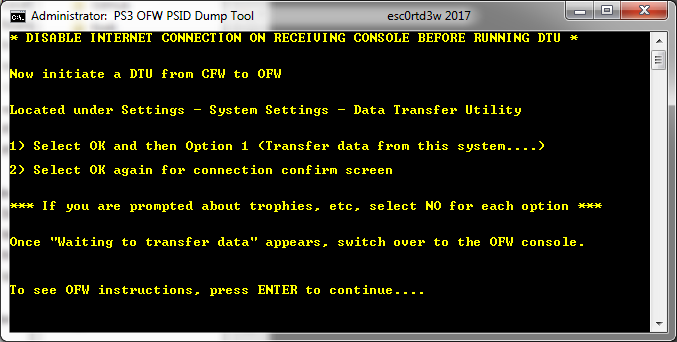 PS3 OFW PSID Dump Tool & Guide to Dump PSID via OFW by Esc0rtd3w 5.png