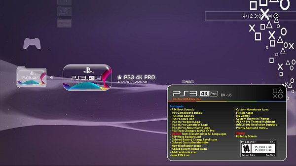 PS3 PRO MOD for PlayStation 3 v4 81 / 4 82 Firmware by