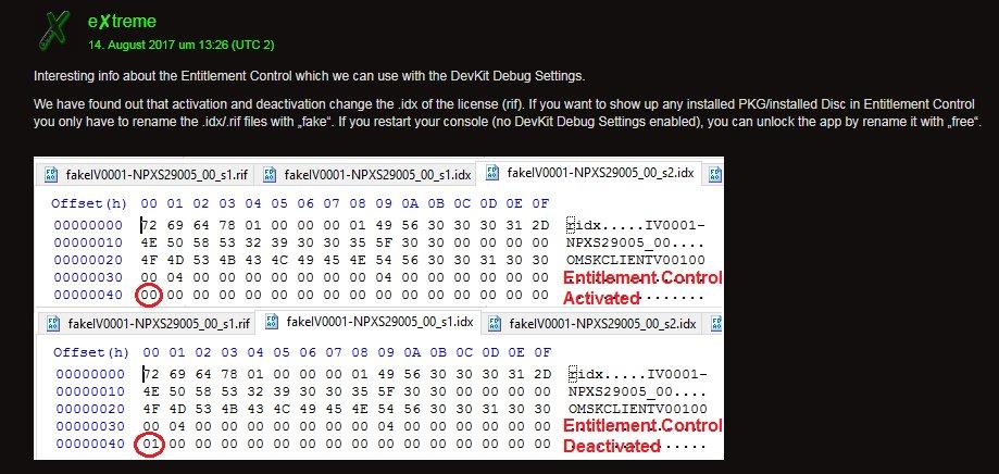 PS4 Entitlement Control via DevKit Debug Settings.jpg