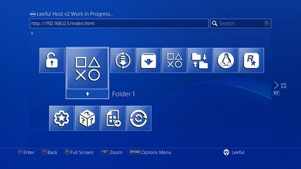PS4 Exploit Host Menu Leeful Host v2 WIP Design Update and Demo.jpg