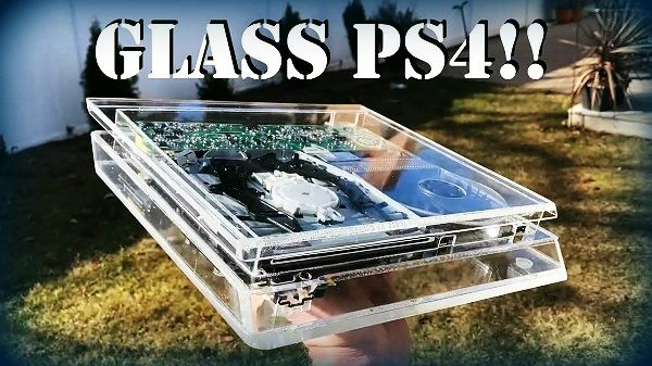 PS4 Hardware Modding Glass PlayStation 4 Console by BitHead1000.jpg