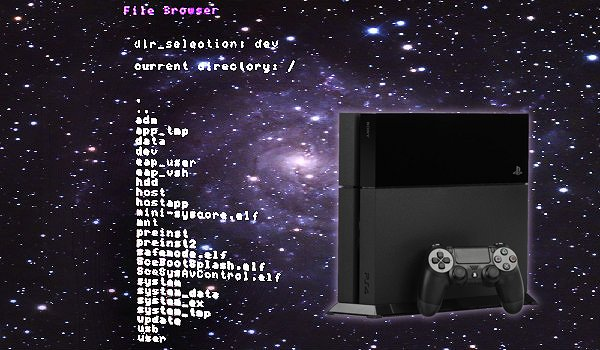 PS4 Homebrew File Browser WIP Update 1 76 Demo by ZeraTron
