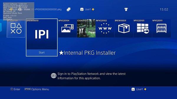 PS4 IPI Internal PKG Installer Homebrew Application by 0x199.jpg