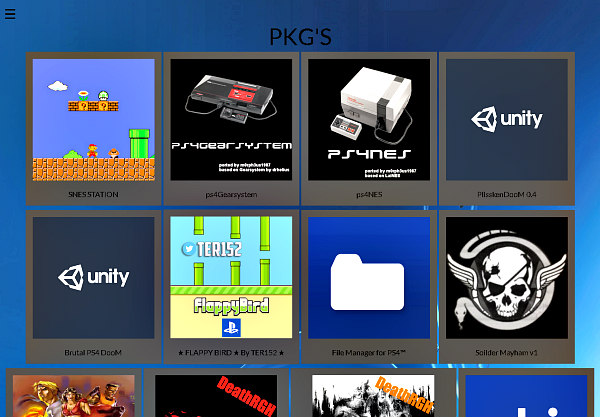 PS4 PKG Store: PlayStation 4 Homebrew Package Store by