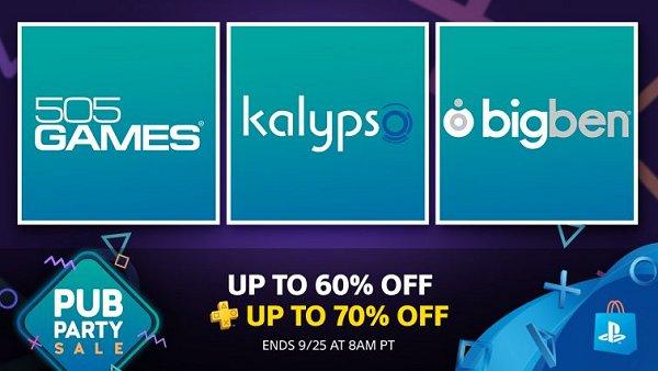 PSN Pub Party Sale Features Deals from 505 Games, Kalyspo
