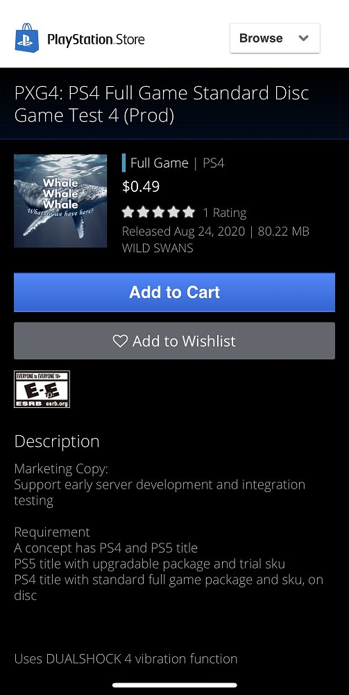 PXG4 PS4 Full Game Standard Disc Game Test 4 Removed from PS Store.jpg