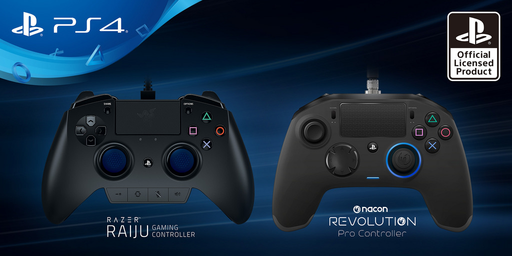 Razer Raiju and Nacon Revolution PS4 Controllers.jpg