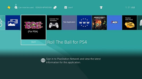 Roll A Ball  Roll The Ball PS4 Homebrew Game Port PKG, DS4 Support.jpg