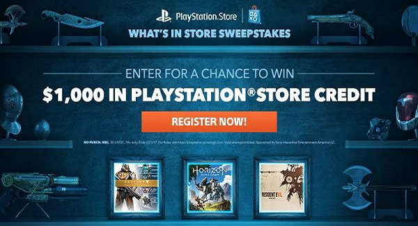 Sony Offers Chance to Win $1000 in PlayStation Store PSN Credit.jpg