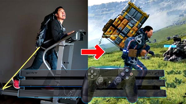 Treadmill Becomes PS4 Controller to Play Death Stranding by Allen Pan.jpg