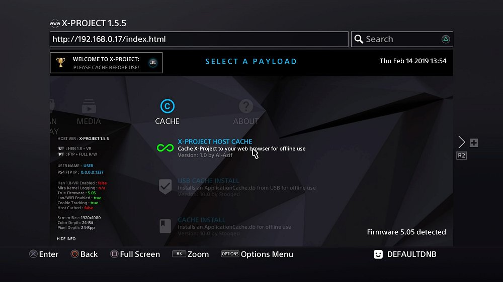 X-Project Updates for PS4 5 05 by DefaultDNB (KiiWii) and