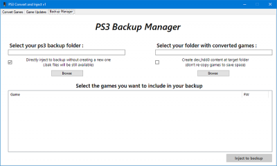 PS3 Convert & Inject v1 for PlayStation 3 Game Injecting by SvenGDK 4.png